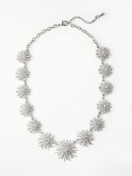 John Lewis Crystal Star Collar Necklace Silver