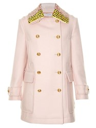 Altuzarra Charles Detachable Collar Wool Blend Coat Light Pink