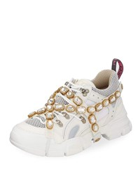 Gucci Sneakers With Removable Crystals White