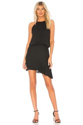 Krisa Halter High Low Mini Dress Black