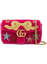 Gucci Gg Marmont Small Velvet Shoulder Bag Pink