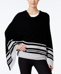 Charter Club Cashmere Striped Poncho Only At Macy's Classic Black