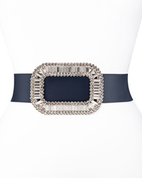 Roger Vivier Pilgrim Crystal Buckle Belt Navy