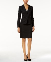 Le Suit Tonal Jacquard Skirt Black