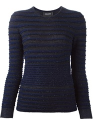 Dsquared2 Ribbed Sweater Blue