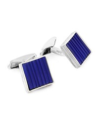 Ermenegildo Zegna Square Cuff Links W Carved Lapis Blue