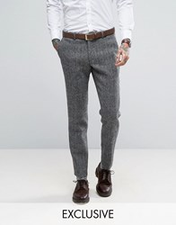 Heart And Dagger Harris Tweed Skinny Trousers Grey