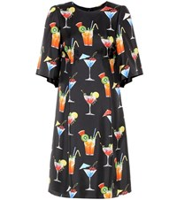 Dolce And Gabbana Printed Silk Dress Multicoloured