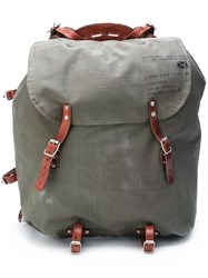 Golden Goose Deluxe Brand Canvas Backpack Green