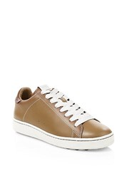Coach C101 Low Top Sneakers Light Saddle Chalk