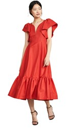 Marissa Webb Issa Faille Dress Cardinal Red