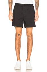 Acne Studios Andy Satin Shorts In Black