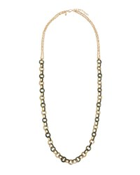 Emily And Ashley Circle Link Long Necklace Green