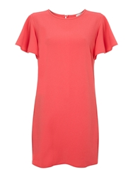 John Zack Draped Sleeved Shift Dress Pink