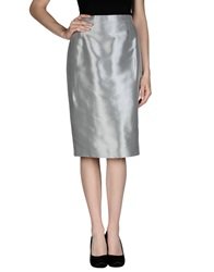 Gai Mattiolo Knee Length Skirts Grey