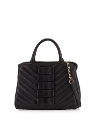Betsey Johnson Black Tie Affair Quilted Bow Satchel Bag