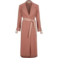 River Island Light Pink Contrast Trench Coat