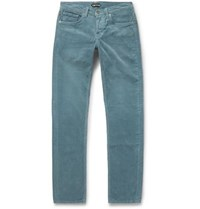 Tom Ford Skinny Fit Cotton Corduroy Trousers Blue