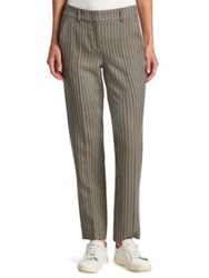 Armani Collezioni Wool Herringbone Trouser Brown Naturale