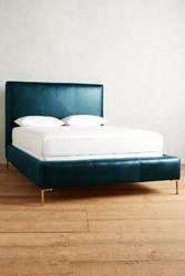 Anthropologie Premium Leather Edlyn Bed Marlin