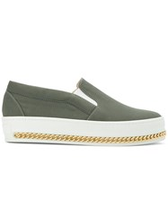 Mr And Mrs Italy Slip On Curb Chain Sneakers Green