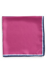 Men's J.Z. Richards Silk Pocket Square Pink