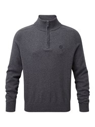 Henri Lloyd Men's Moray Regular Half Zip Knit Dark Grey