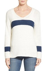 Women's Two By Vince Camuto Stripe V Neck Sweater