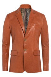 Etro Leather Blazer Brown