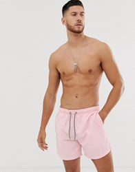 New Look Swim Shorts In Pink Multi