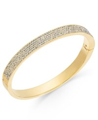 Danori 18K Gold Plated Brass Cubic Zirconia Pave Hinge Bracelet Only At Macy's