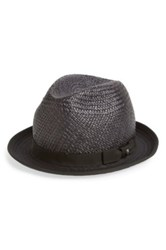 The Kooples Straw And Cotton Hat Black