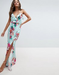 Jessica Wright Floral Maxi Dress Blue