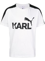 Puma Karl X Printed T Shirt White