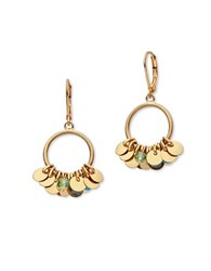 Lonna And Lilly Cubic Zirconia Disc Accented Drop Earrings Gold
