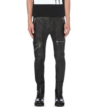 Diesel P Grundy Leather Trousers Black