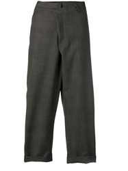 R 13 R13 Grey Checked Trousers