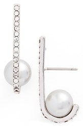 Kate Spade Women's New York Imitation Pearl Drop Earrings Grey Multi