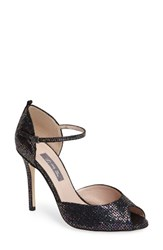 Sarah Jessica Parker Women's Sjp By By 'Ursula' Open Toe D'orsay Metallic Leather Pump
