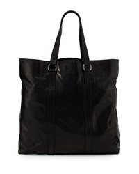 Red Valentino Shiny Leather Tote Bag Black Men's