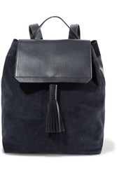 Iris And Ink Leather Suede Backpack Navy