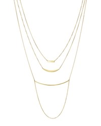 Moon And Meadow Triple Layer Bar Necklace In 14K Yellow Gold 19 100 Exclusive