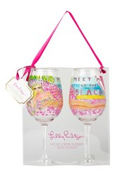 Lilly Pulitzer Acrylic Wine Glasses Pink Set Of 2 Meet Me At The Beach