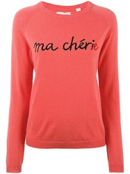 Chinti And Parker Ma Cherie Sweater Women Cashmere M Red