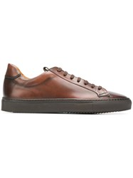 Doucal's Low Top Leather Sneakers Brown