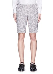 Thom Browne Floral Stripe Jacquard Canvas Shorts Multi Colour