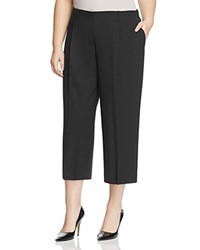 Lafayette 148 New York Plus Cropped Rivington Stretch Wool Pants Black
