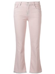J Brand Cropped Flared Jeans Pink