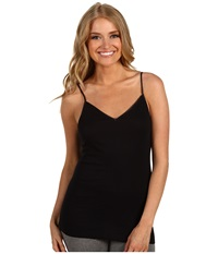 Hanro Cotton Seamless V Neck Camisole Black Women's Underwear