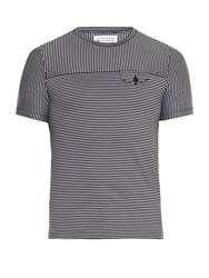 Maison Martin Margiela Crew Neck Striped T Shirt Black Multi
